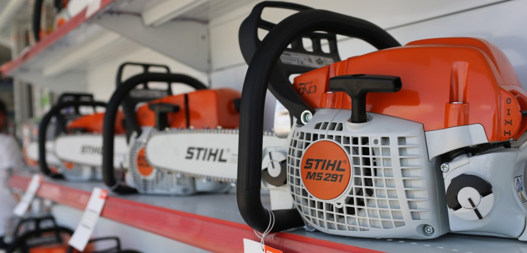 In our stores we can find quality Stihl products